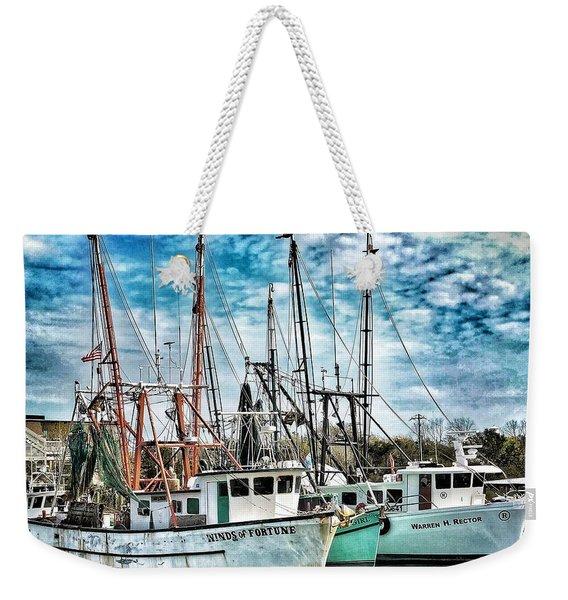 Shrimp Boats Weekender Tote Bag