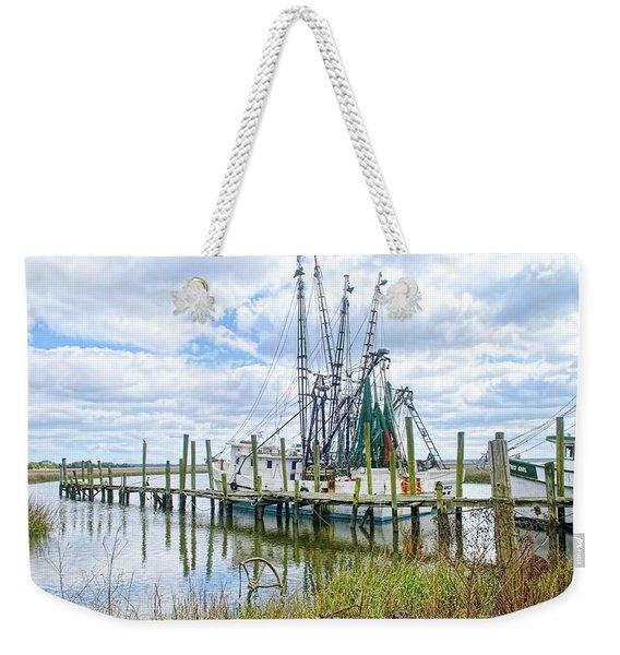 Shrimp Boats Of St. Helena Island Weekender Tote Bag