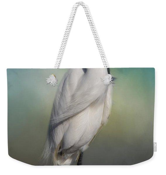 Shy Egret Weekender Tote Bag