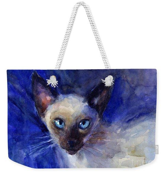 Siamese Cat  Weekender Tote Bag