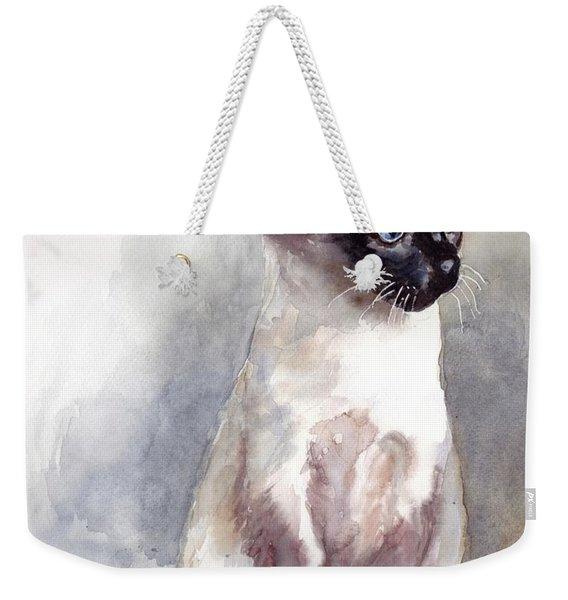 Siamese Kitten Portrait Weekender Tote Bag