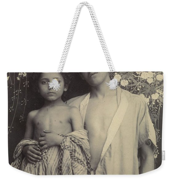 Sicilian Boy And Girl Before Floral Textile Weekender Tote Bag