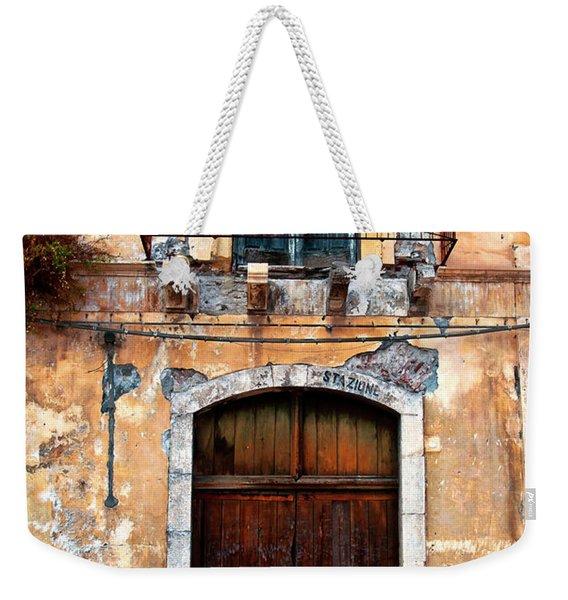 Sicilian Facade Weekender Tote Bag