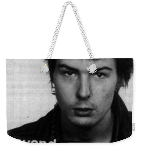 Sid Vicious Mug Shot Vertical Weekender Tote Bag