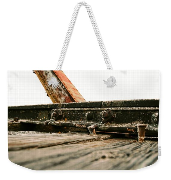 Side Of Rail #photography #trains Weekender Tote Bag