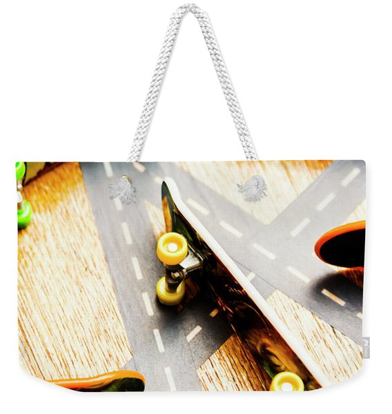 Side Streets Of Skate Weekender Tote Bag