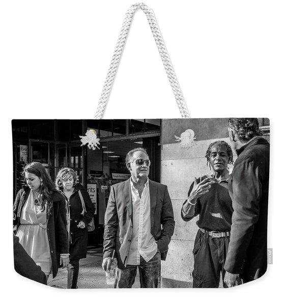 Sidewalk Circulation Weekender Tote Bag