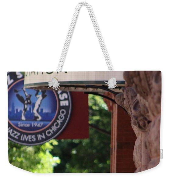 Sidewalk View Jazz Station  Weekender Tote Bag