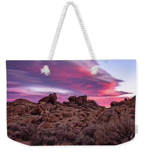 Sierra Clouds At Sunset Weekender Tote Bag