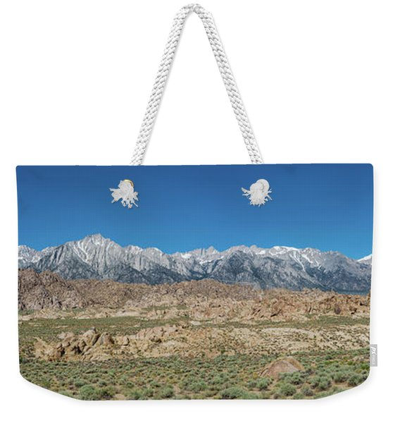 Sierra Nevada Mountain Range Weekender Tote Bag