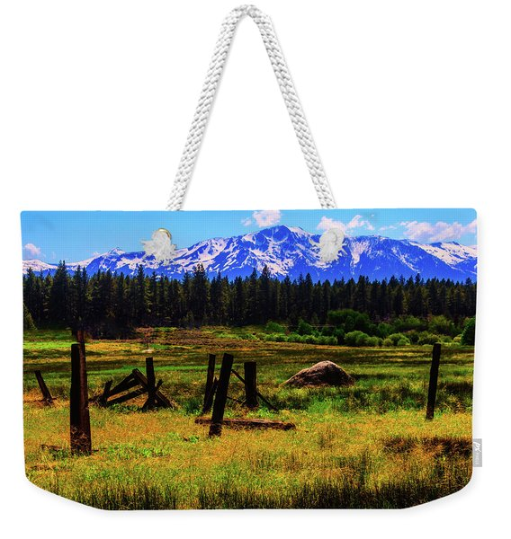 Sierra Nevada Mountains Weekender Tote Bag