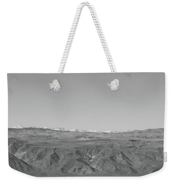 Weekender Tote Bag featuring the photograph Sierra Nevada Range From Death Valley by Frank DiMarco