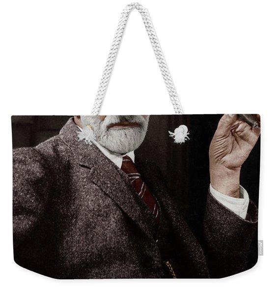 Sigmund Freud Austrian Neurologist And Psychoanalyst In 1926 Weekender Tote Bag