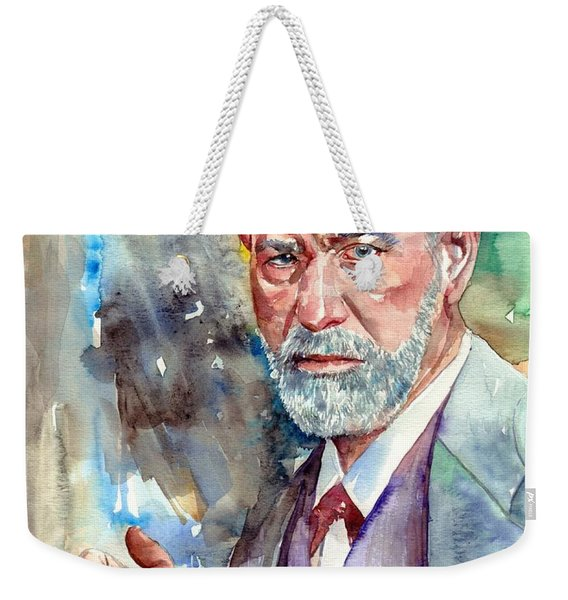 Sigmund Freud Portrait Weekender Tote Bag