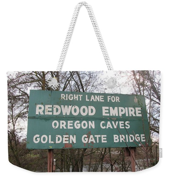 Sign In Grants Pass Oregon Weekender Tote Bag