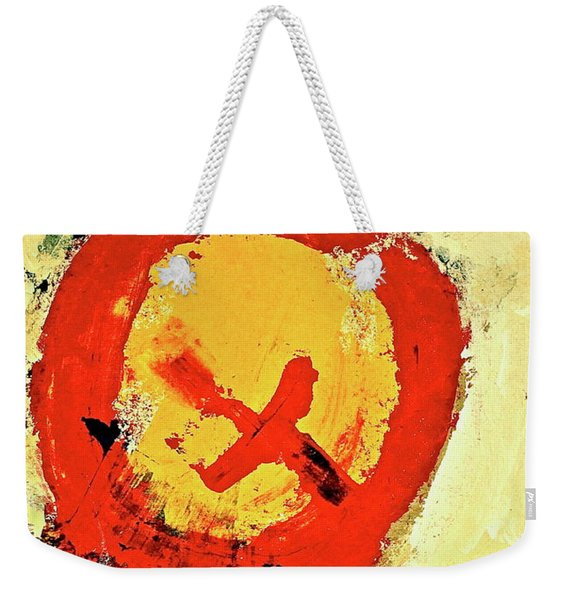Weekender Tote Bag featuring the painting Signal  by Cliff Spohn