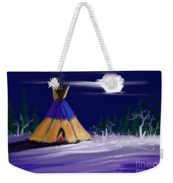 Silence In The Moonlight Weekender Tote Bag