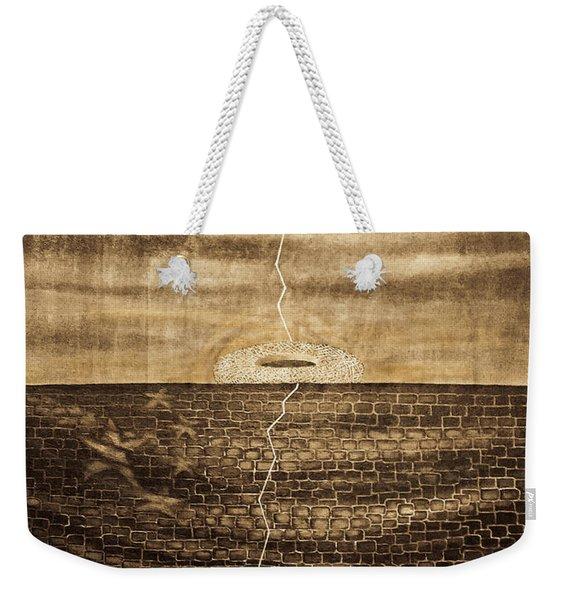 Silent Echo Beige Weekender Tote Bag