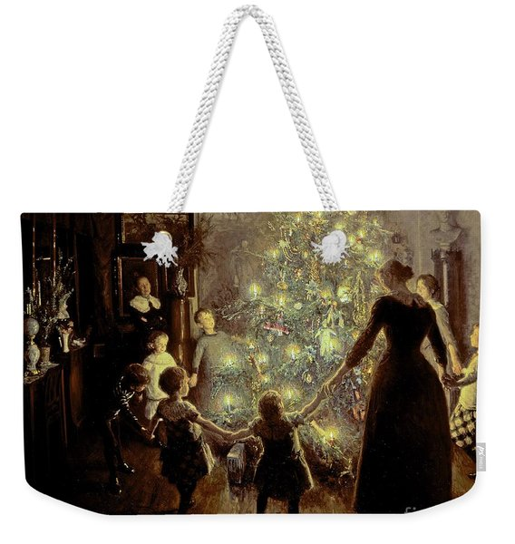 Silent Night Weekender Tote Bag