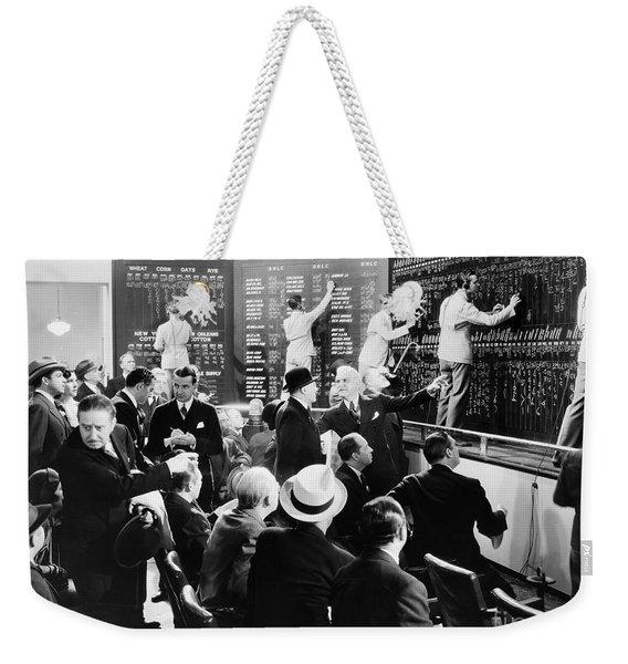 Silent Still: Banking Weekender Tote Bag