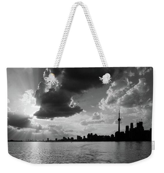 Silhouette Cn Tower Weekender Tote Bag