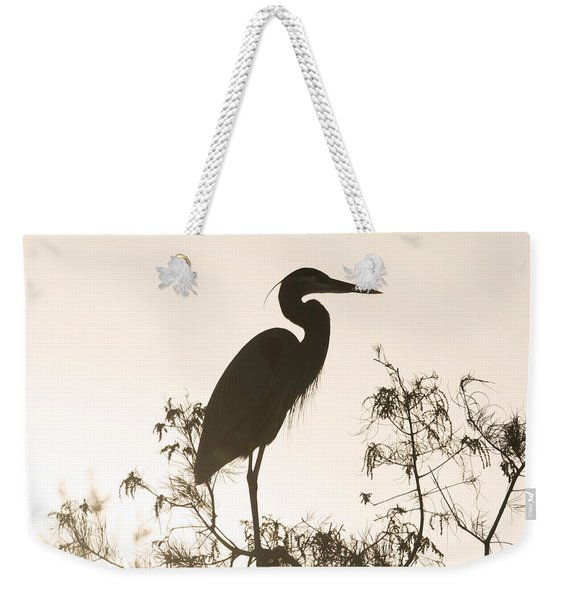 Silhouette In The Sunset Weekender Tote Bag