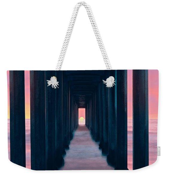 Silhouette Of Scripps Pier, La Jolla Weekender Tote Bag