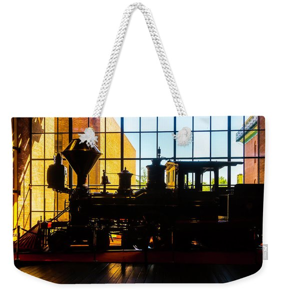 Silhouette Of The C.p. Huntington Weekender Tote Bag