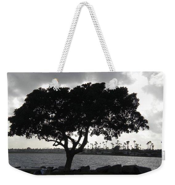 Silhouette Of Tree Weekender Tote Bag
