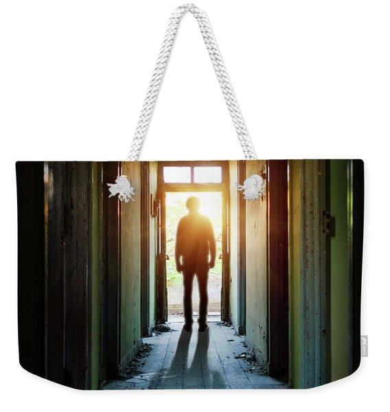 Silhouette On The Hallway Weekender Tote Bag