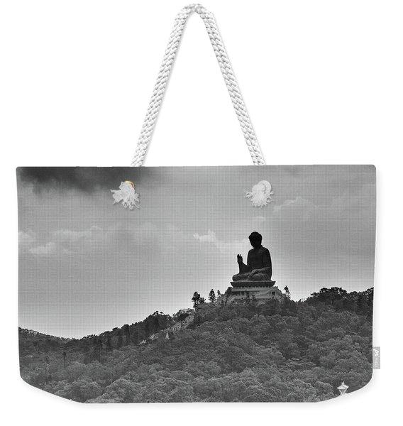 Silhouetted Figure Weekender Tote Bag