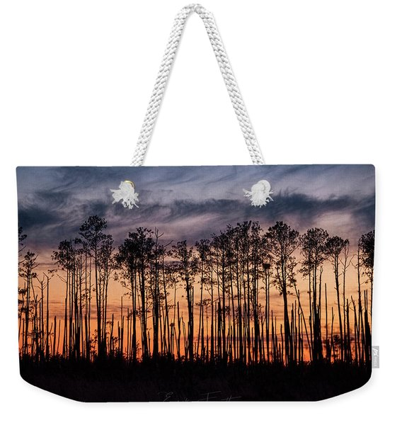 Silhouetted Sunset Weekender Tote Bag