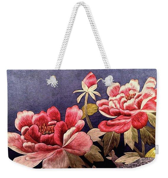 Silk Peonies - Kimono Series Weekender Tote Bag