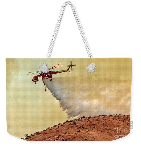Siller Helicopter  Weekender Tote Bag