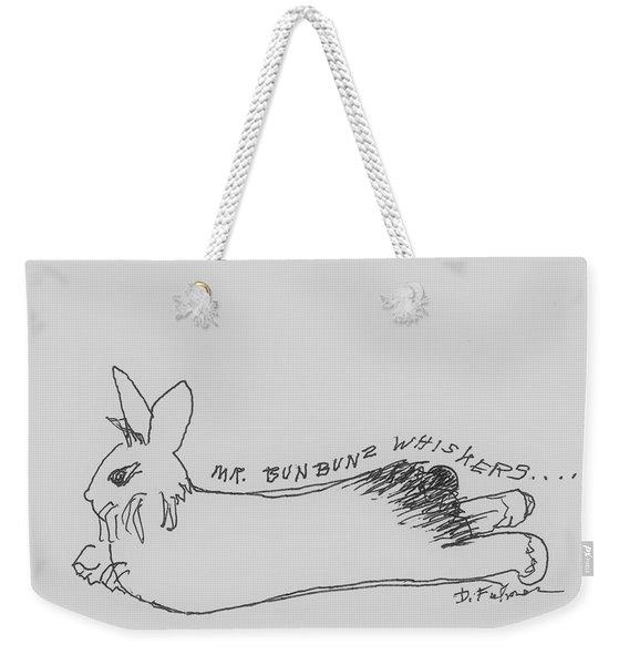 Silly Sketch Of Mr. Whiskers Weekender Tote Bag