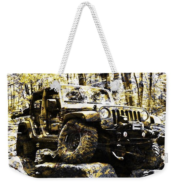 Silver And Gold Jeep Wrangler Jku Weekender Tote Bag
