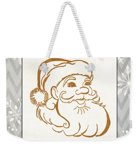 Silver And Gold Santa Weekender Tote Bag