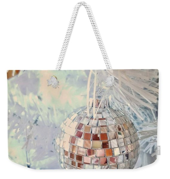 Silver And White Christmas Weekender Tote Bag