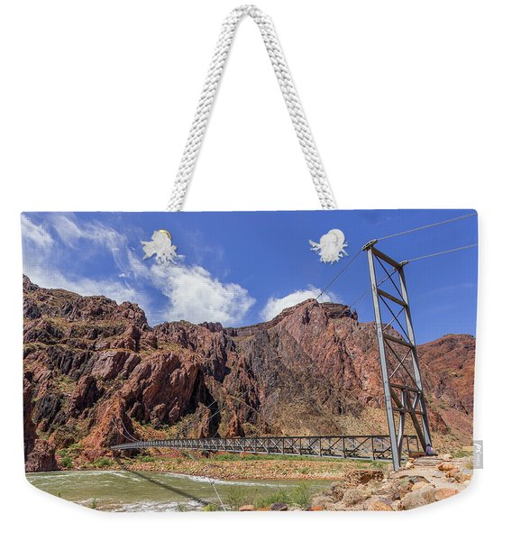Silver Bridge Over Colorado River - At The Bright Angel Trail Weekender Tote Bag