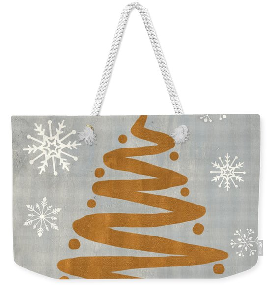 Silver Gold Tree Weekender Tote Bag