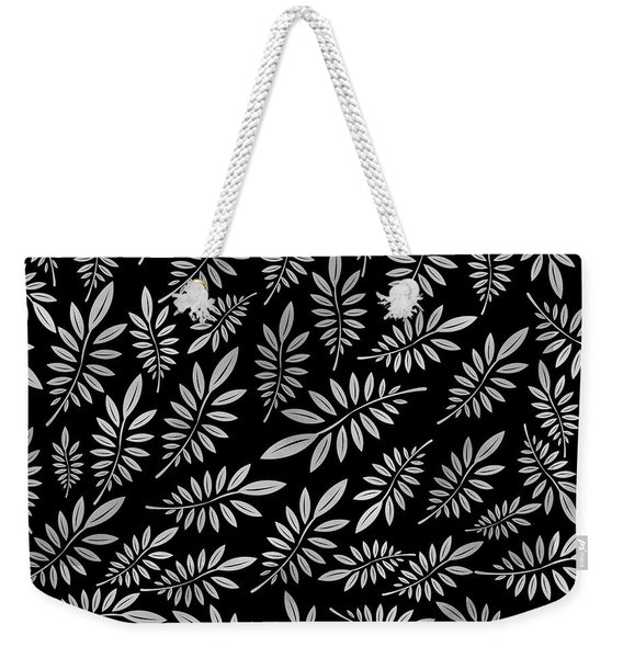 Silver Leaf Pattern 2 Weekender Tote Bag