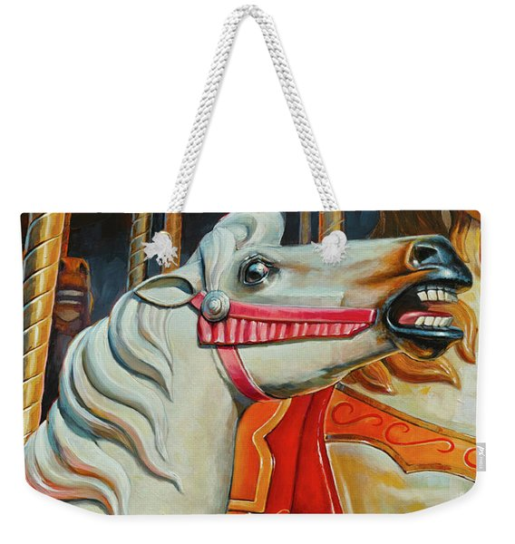 Silver Moon And Ginger Weekender Tote Bag