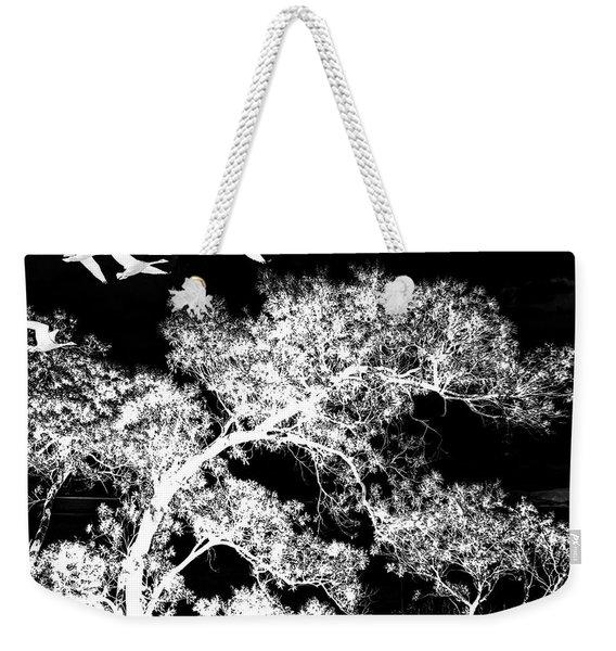Silver Nights Weekender Tote Bag