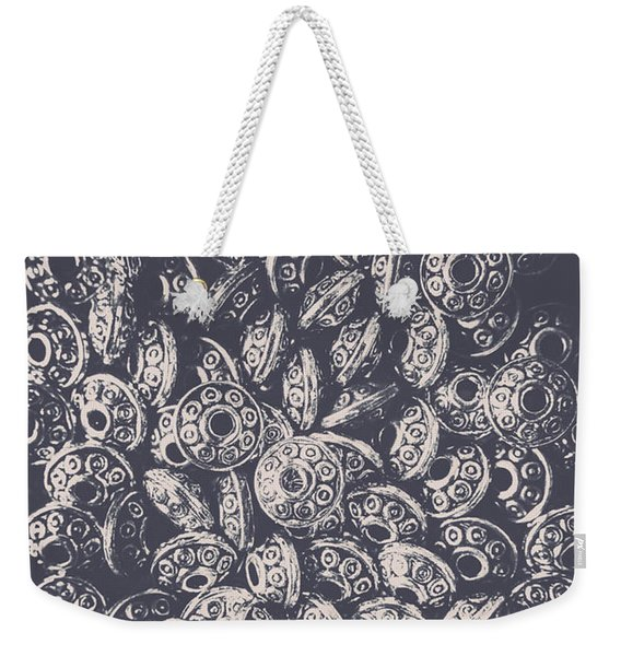 Silver Saucers From Outer Space Weekender Tote Bag