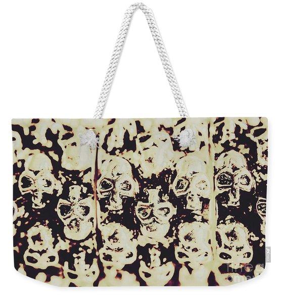Silver Skull Art Weekender Tote Bag
