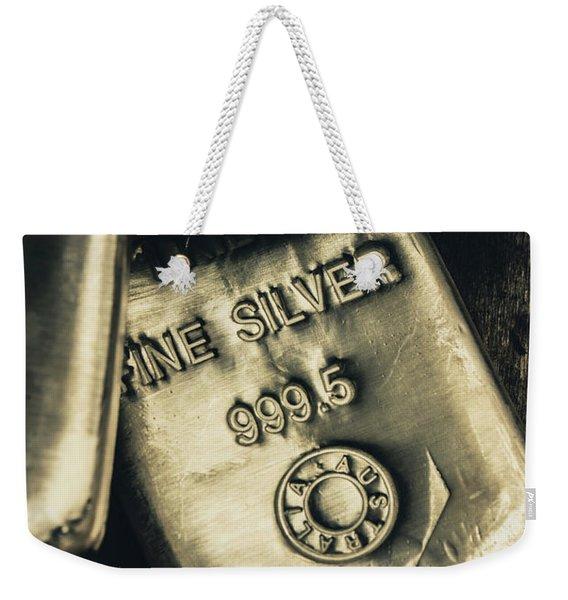 Silver Stackers Artwork Weekender Tote Bag