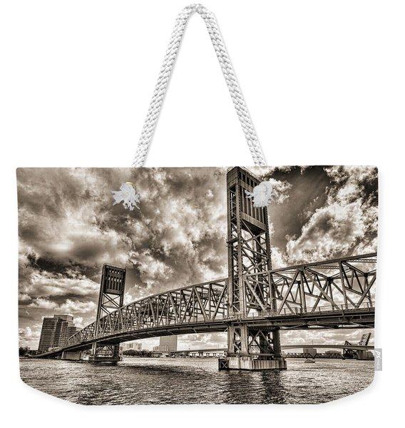 Silver Wing Weekender Tote Bag