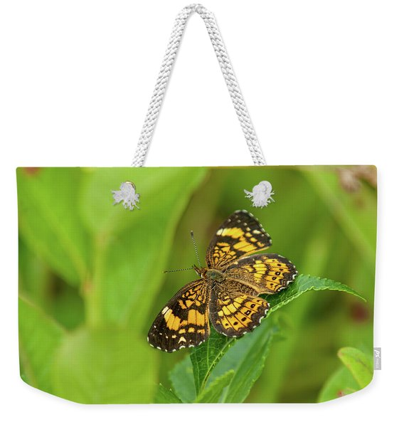 Silvery Checkerspot Butterfly Weekender Tote Bag
