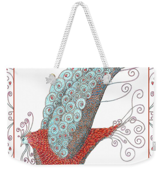 Simon Lovey The Exotic Bird With Border Weekender Tote Bag