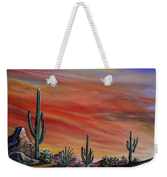 Simple Desert Sunset One Weekender Tote Bag
